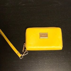 Small Yellow Michael Kors Wristlet